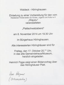 Plattschwatzabend 2014